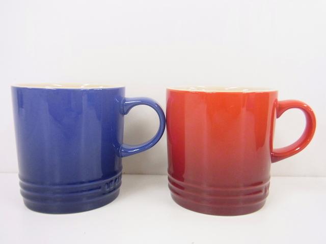Le Creuset(ルクルーゼ)【良好・本物】マグカップ/青・赤/2点セット