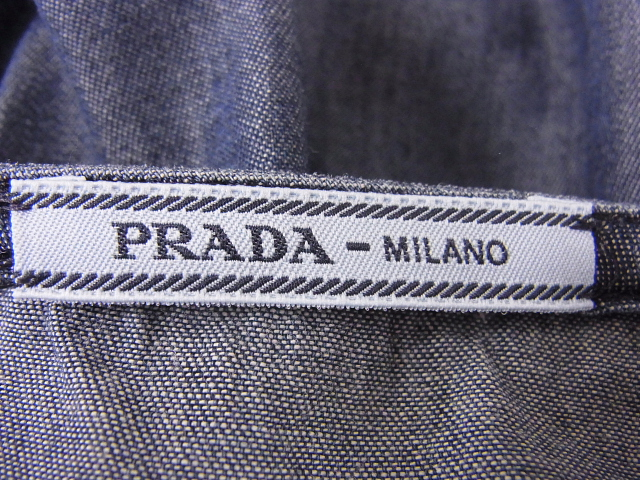PRADA(プラダ)【定価6.3万↑・本物】デニムスカート/ブルー/42