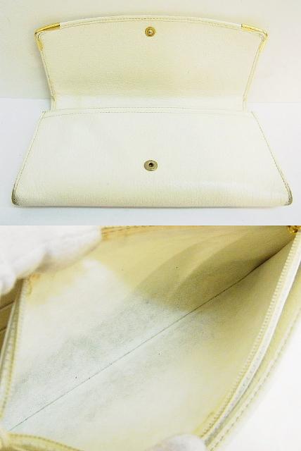 Cartier(カルティエ)【本物】レザー 長財布/白×ゴールド金具