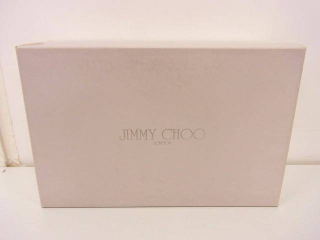 JIMMY CHOO/ジミーチュウ ビジュー付 サテン パンプス 黒 36.5