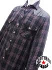 クロムハーツ フローラルクロスボタン チェックシャツ M
