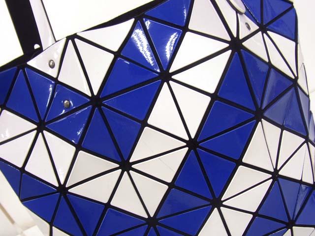 ISSEY MIYAKE/イッセイミヤケ バオバオ トートバッグ 青×白