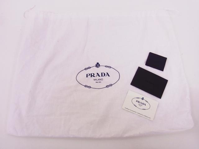 PRADA/プラダ レオパード柄 ハラコハンドバッグ ブラウン