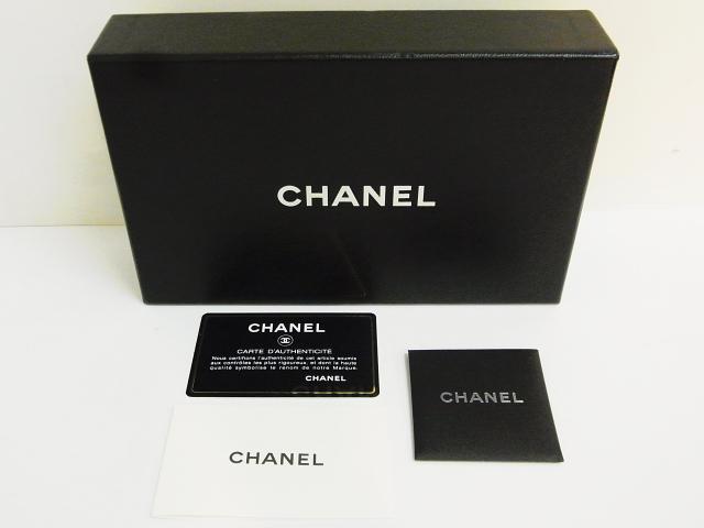 CHANEL/シャネル カーフレザー ココボタン 長財布 シルバー
