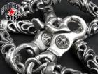 CHROME HEARTS/クロムハーツ【原本付・ロング・定価83万円↑↑】9リンク2クリップローラーウォレットチェーン