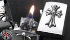 CHROME HEARTS/クロムハーツ【美品・大人気・定価28万円↑↑】ZIPPO/CHクロスV1
