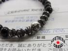 CHROME HEARTS/クロムハーツ【証明書】クロスボールブラックトルマリン6mmビーズブレスレット