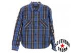 TENDERLOIN/テンダーロイン【サイズS】チェックシャツ/ブルー